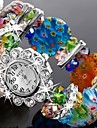 Женские Нарядные часы Модные часы Часы-браслет Кварцевый Plastic Группа Блестящие Цветы Кольцеобразный Разноцветный Зеленый