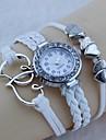 상호 친 화성 다이아몬드 짠 팔찌 시계 (흰색)가