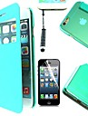 4.7 inch Window Transparent Cover Case With Touch Pen And Protective Film For iPhone 6(Assorted Color)