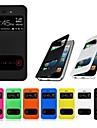 vormor® 더블보기 화면 아이폰 4 / 4S를위한 PU 가죽 케이스 (모듬 색상)
