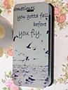 Special Grains Seagull Pattern PU Full Body Case with Card Slot for iPhone 5/5S