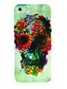 Flor do crânio padrão rígido para iPhone 4/4S