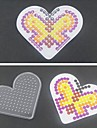1PCS Template Clear Pegboard Loving Heart for 5mm Hama Beads Fuse Beads