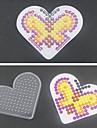 1шт шаблон ясно Pegboard любящее сердце для 5мм Hama бисером предохранителей бисера