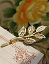 трехмерные золотой лист ретро шпильки