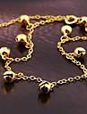 корейский стиль моды сплава колокол ножной браслет золотой (1шт)