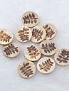 лист рисунок записки scraft швейные поделки кокосовые кнопки оболочки (10 шт)