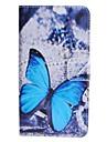 Pour Coque HTC Porte Carte / Portefeuille / Avec Support / Clapet Coque Coque Intégrale Coque Papillon Dur Cuir PU HTC