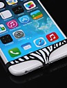 Funny Designed Zebra-Stripe Pattern Female Triangle Pants Shape Home Button Case for iPhone 6/5S/5/4/4S and Others