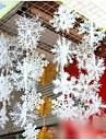 6 шт Рождеством украшение дерева snoflake висит орнамент (2 * 13см, 2 * 18см, 2 * 25см)