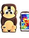 3d дизайн мультфильм обезьяна шаблон силиконовый мягкий чехол для Samsung i9600 s5