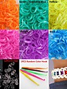 600PCS Pearlescent Shimmer DIY Twistz Silicone Rubber Bands for Rainbow Loom Bracelets with Hook&S-clips(Assorted Color)