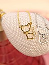 mode collier court douce pendentif chat