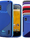"""S"" Style Protective TPU Soft Back Case for LG Nexus 4/E960 (Assorted Colors)"