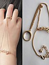 Fashion Gold LOVE cutout Ring Bracelet Fashion Jewelry for Women bracelets & bangles