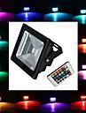 10W LED Floodlight 1 High Power LED 900 lm RGB Remote-Controlled AC 85-265 V