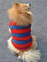 Коты / Собаки Футболка Красный Одежда для собак Зима Полоски Свадьба / Косплей