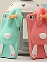 Lovely Bucktooth Rabbit Silicone Back Cover for iPhone 6/6S (Assorted Color)
