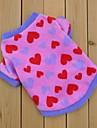 Коты Собаки Толстовка Розоватый Одежда для собак Зима Весна/осень Сердца Милые На каждый день