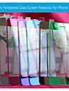 전면 색상이 아이폰에 대한 마이크로 화이버 천으로 유리 스크린 보호를 강화 5 / 5 초 / 5C - (모듬 색상)