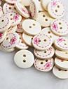 bowknot patrón scrapbook Scraft coser botones de madera de bricolaje (10 piezas)
