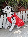 Собаки Платья Красный Одежда для собак Лето В горошек