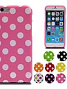 Colorful Polka Dot Soft Gel TPU Case for iPhone 6 (Assorted Colors)