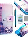 용 카드 홀더 / 스탠드 / 플립 / 패턴 케이스 풀 바디 케이스 에펠탑 하드 인조 가죽 Samsung Trend Lite