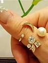 shixin® женской моды кристалла сплава заявление кольцо (золотое) (1 шт)