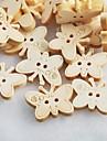 πεταλούδα λεύκωμα scraft ράψιμο diy ξύλινα κουμπιά (10 τμχ)