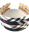 1pcs Sweet Fashion Diagonal Stripes Plaid Cloth Headband(Assorted Colors)