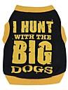 Коты Собаки Футболка Черный Одежда для собак Лето Весна/осень Буквы и цифры Милые На каждый день