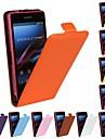 플립 오픈 단색 패턴 정품 가죽 전신 케이스 소니 Z1 미니에 대한 / m51w (모듬 색상)
