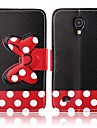 Black Background Vara Bow Pattern PU Leather Full Body Case for Samsung S4 Mini I9190