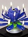 пластик спиннинг музыкальный рождения цветок свеча