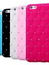 brillant de diamant étui en silicone souple pour iPhone 6 plus (couleurs assorties)