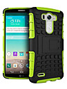 Solid Colour Hard/Soft Case Design with Stand for LG G3