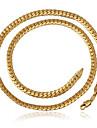 u7® высокого качества для мужчин старинные 18k коренастый золота заполнены ожерелье цепь для мужчин 6мм 22inches 55cm