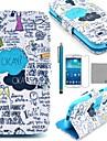 coco Fun® motif bleu de graffiti étui en cuir PU avec protecter d'écran et un stylet pour les mini i9190 samsung galaxy