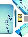 COCO FUN® Cute Heart Pattern PU Leather Full Body Case with Screen Protector, Stylus and Stand for Nokia Lumia N625