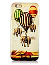 Cartoon Elephant and Balloon Pattern Hard Back Case for iPhone 6