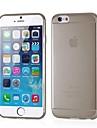 сплошной цвет мягкого силикона тонкое покрытие 0.3mm кожи для iPhone 6 (разных цветов)