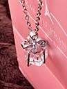 Ожерелье Ожерелья с подвесками Бижутерия Свадьба / Для вечеринок / Повседневные Модно Сплав Серебряный 1шт Подарок