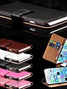 Card Holder PU Leather Solid Cover Case for iPhone 6 Plus (Assorted Colors)