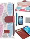 Коко fun® ретро красочные картины листьев ПУ кожаный чехол с Protecter экраном и стилусом для Samsung Galaxy s4 мини i9190