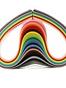 120PCS 3MMx53CM Quilling Paper(24 Color x5 PCS/Color) DIY Craft Art Decoration