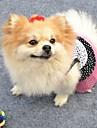 Коты / Собаки Платья Черный / Белый Одежда для собак Лето В горошек Свадьба / Косплей