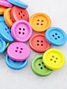 Soild цвет записки scraft швейные DIY Деревянные кнопки (10 шт случайный цвет)