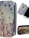 padrão de aves livres de couro pu caso de corpo inteiro com suporte e slot para cartão para Samsung Galaxy S3 i9300
