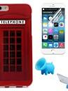 телефонная будка шаблон ТПУ мягкий чехол с подставкой и защитной пленкой для iPhone 6 / 6с